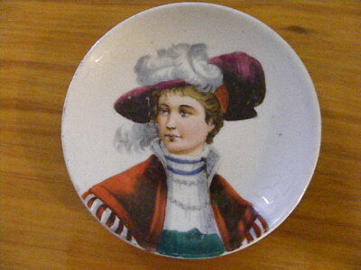 Vintage China Pin Dish with Lady