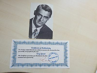Cary Grant autograph original signed with COA extremely rarely