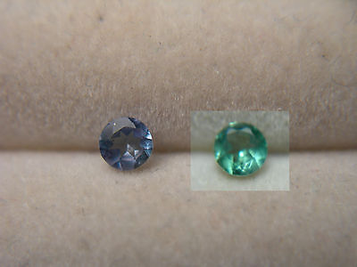 rare ALEXANDRITE Color Change NATURAL Brazil gem Green Purple Fluorescent rnd ab