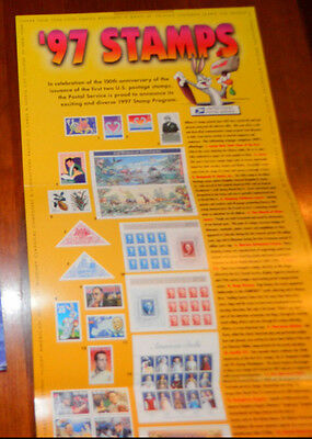 USPS 32c Stamps of 1997 Poster Post Office Lobby Poster