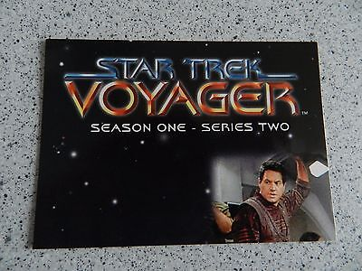 Star Trek Voyager Season One Series Two complete Basic Set of 90 Cards