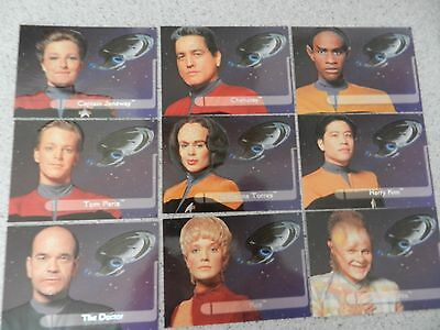 Star Trek Voyager Season One Series Two Embossed Crew Set E1 - E9 rare