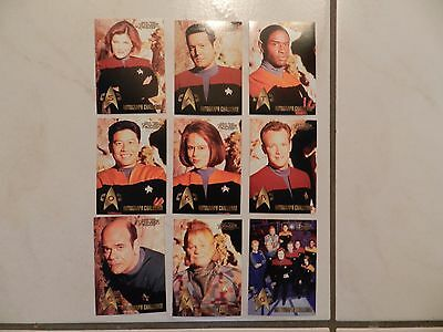 Star Trek Voyager Profiles Autograph Challenge Set complete 9 card set