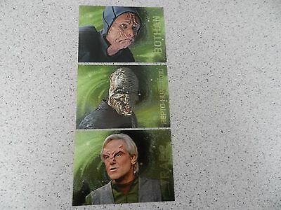 Star Trek Voyager Season Two Xenobio Sketches Set of 3 Cards