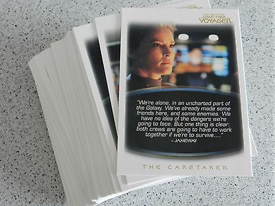 The Quotable Star Trek Voyager complete Basic set of 72 Cards