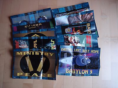 Babylon 5 Season Two Mini Poster Night Watch a lot of 7 missing # P3, P8, P10