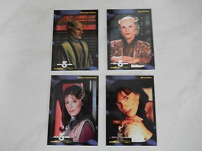 Babylon 5 Special Edition Faces of Delenn complete Set of 4 Cards (D1 - D4)