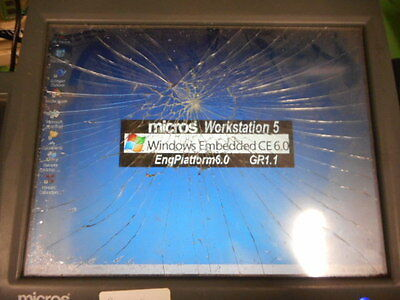 Micros Workstation 5 Touch Screen 400814-001 Touch S *Cracked Screen* *No Stand*