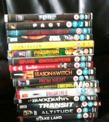 Mixed dvds horror thriller action films movies bundle