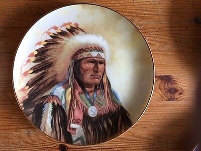 6 X American Indian Collectable Wall Mounting Plates Plates