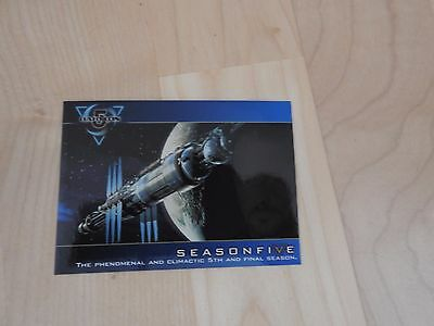 Babylon 5 Season Five Promo Card