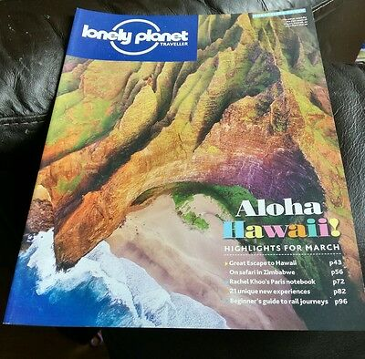 Lonely Planet Traveller Magazine March 2016 Hawaii Zimbabwe Paris