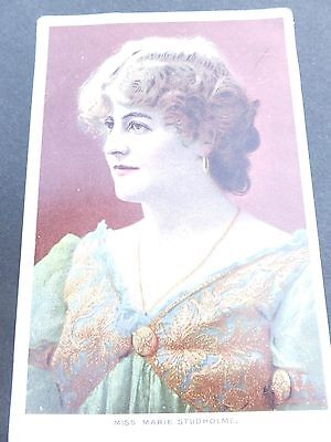 MARIE STUDHOLME - BRITISH STAGE THEATER ACTRESS AND SINGER - Vintage Postcard