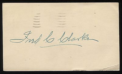 Fred Clarke Signed GPC Index From 1951 Vintage Autographed T206 Player