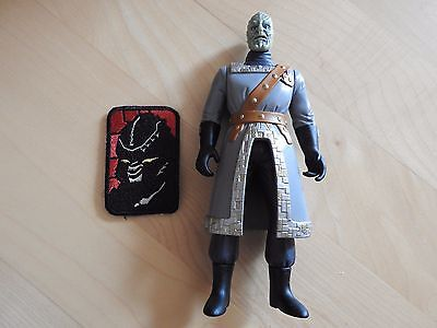 Babylon 5 Action figure Ambassador Juphar Trkider and Drazi Freehold Patch