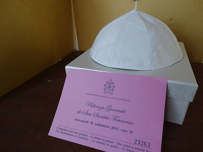Authentic Skull Cap Worn by Pope Francis -general audience
