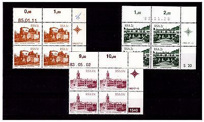 South Africa 1982-7 Architecture Corner Blocks Stamps. Mint No Hinge.  #486