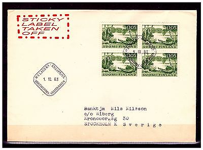 Finland First Day Cover. 1963. Used.  #665