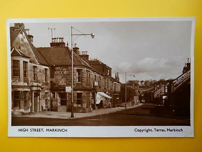 High Street MARKINCH Nr Glenrothes Fife - Terras RP 1955 Hotel Pub Shop