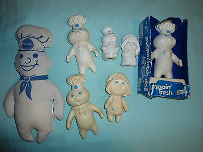 VINTAGE 70's LOT OF PILLSBURY DOUGH BOY COLLECTIBLES
