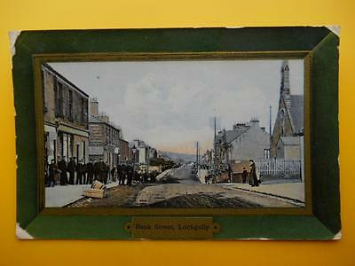 Bank Street LOCHGELLY Nr Kirkcaldy Fife *Vintage* 1908 Shops Church People