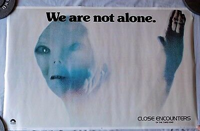 Close Encounters of the Third Kind We are not alone Poster 23x35 1977 Vintage