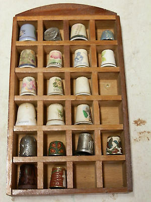 Thimbles collection of over 60 thimbles some hallmarked and antique.