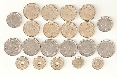 21 Coins of Spain 1957 - 1990's