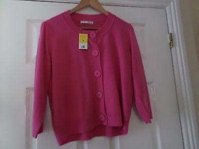 Ladies Pink Cardigan Size 16 BNWT