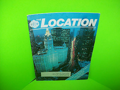 AMOA The Location August 1984 Vintage Amusement Arcade & Music Trade Magazine