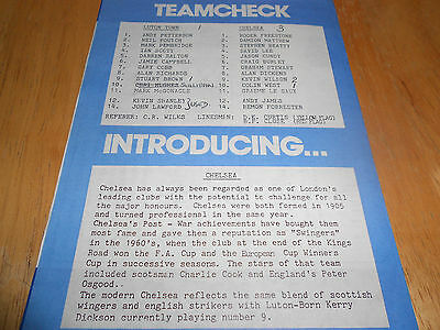 Luton Town Reserves V Chelsea Reserves - 8Th May, 1990