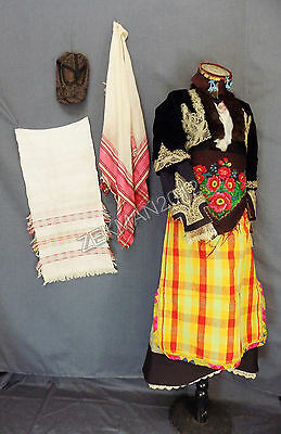 Antique Complete Set Traditional Folk Bulgarian Woman's Costume from Smolyan