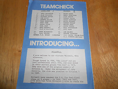 Luton Town Reserves V Millwall Reserves - 24Th April, 1990
