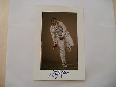 Signed Ken Taylor Cricket Print-Raj Maru-Hants Cricket