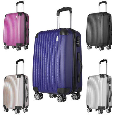 Hard Shell 4 Wheel Spinner Suitcase Cabin Luggage Lightweight 24 20 Inch