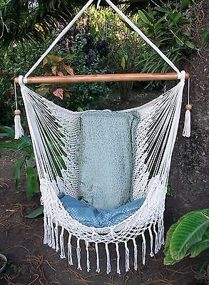 Nicaraguan Macrame Hammock Chair/tropical  Hammock//bedroom Chair Hammock Beige