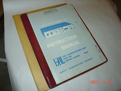 HAL ST-6 Manual, Used Original, Soft Bound with notes & addendums