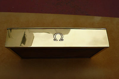 Rare 1950's Omega Jezler Sterling Silver Gilded 925 Deluxe Watch Case Box