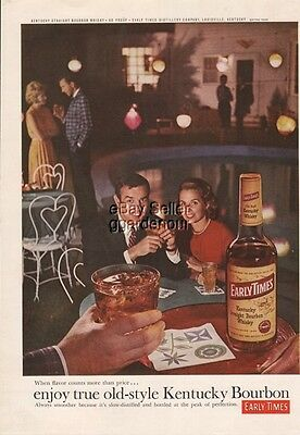 1962 Early Times Kentucky Bourbon Whiskey Louisville KY Swimming Pool Photo Ad