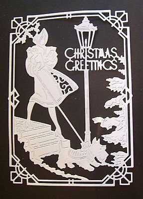 "Tattered Lace Christmas, Seasonal Die Cut Toppers ~ ""deco Christmas Greetings"""