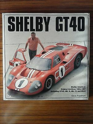 Ford Shelby Gt40 Dave Friedman Libro Coches Enciclopedia Automóvil Gt 40 Book