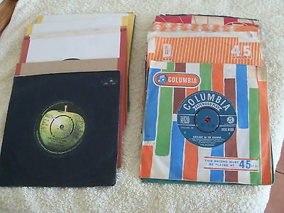 "JOB LOT OF 25 ROCK, BEAT & POP 7"" SINGLES FROM THE 1960s......ALL LISTED"