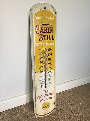 Cabin Still Whiskey Advertising Thermometer Sign Whisky Hunting Advertising