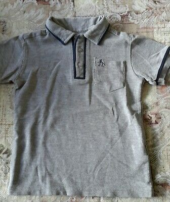 kids boys short sleeve polo shirt 3/4 yrs