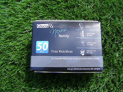 Glucorx nexus test strips box of 50 strips