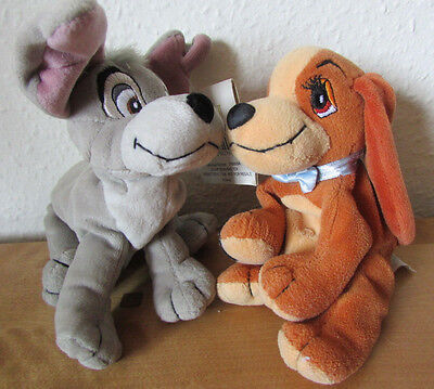 Fab Disney *lady And The Tramp* Dog Plush Soft Toy Beanie Pair - Tramp Has Tag