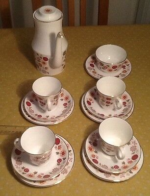 in good condition Royal Grafton part tea / coffee set pattern Mexicana 1950s/ 60