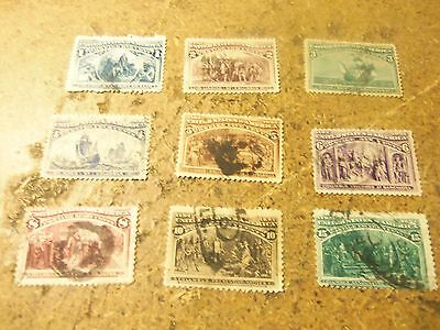 old classic used US stamps columbus expo 1 to 15 cent