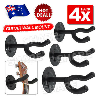 4x Wall Hangers foam padded hook Mount Holder for Electric Acoustic Bass Guitar