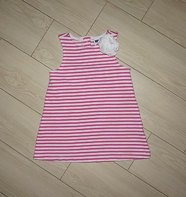 Toddler Girls JANIE AND JACK A Line Dress Sleeveless Striped Flower 18-24 Months
